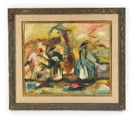 1966 MODERN ABSTRACT STILL LIFE OIL PAINTING