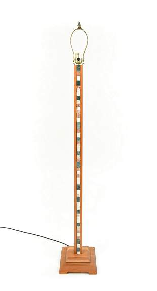 FLOOR LAMP WITH INSET MOSAIC STONE