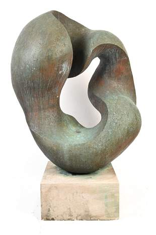 LARGE MODERN BIOMORPHIC ABSTRACT BRONZE
