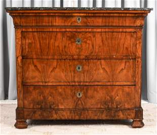 ANTIQUE BIEDERMEIER STYLE CHEST OF DRAWERS