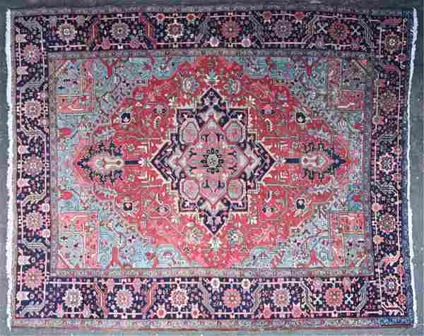 VINTAGE HAND-KNOTTED PERSIAN ROOM SIZE RUG