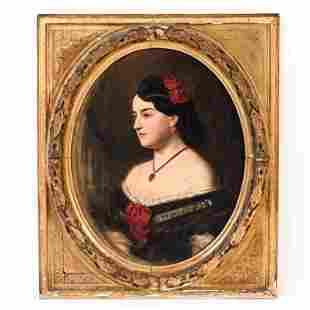 1860'S NEW JERSEY PORTRAIT O/C