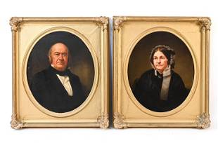 W. COGSWELL (1819-1903) PORTRAITS MR. & MRS. EWING