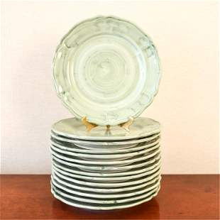 (14) KALEIDESCOPE DERUTA ITALIAN CERAMIC PLATES