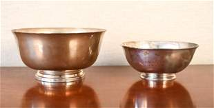 (2) STERLING SILVER BOWLS INCL. TIFFANY