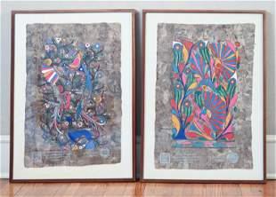 (2) 1979 MODERN FOLK ART MEXICAN PAINTINGS