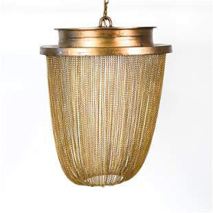 CONTEMPORARY CHAIN SHADE CHANDELIER