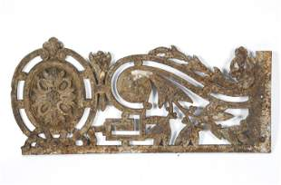 FRENCH IRON ARCHITECTURAL ELEMENT