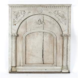 NEOCLASSICAL STYLE ARCHITECTURAL OVER MANTEL PANEL