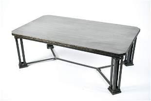 CONTEMPORARY METAL CLAD COFFEE TABLE