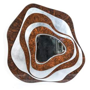 MODERN ABSTRACT FORM WALL MIRROR