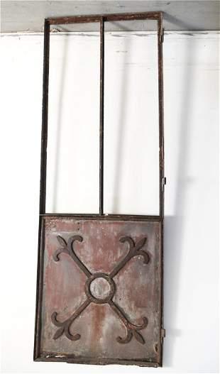 LARGE IRON ARCHITECTURAL DOOR
