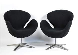 """(2) TONY WEIS DESIGN """"SWAN CHAIR"""" STYLE CHAIRS"""