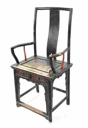 CHINESE WOODEN ARMCHAIR