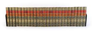 (26) VOL. WORKS OF THACKERAY, 1901 LEATHER BOUND