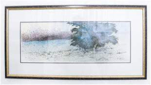 C.F. CHIANG CHINESE WATERCOLOR LANDSCAPE