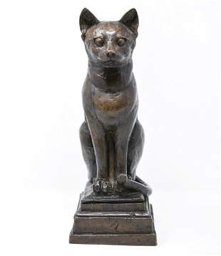 ENGLISH CAT SCULPTURE