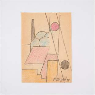 OTTO NAGEL, GERMAN (1894-1967) 1928 ABSTRACT