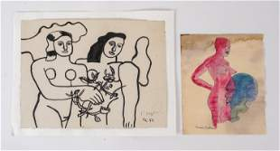 (2) FERNAND LEGER & FRANCIS PICABIA WORKS ON PAPER