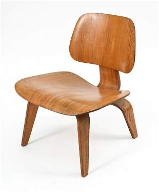 EARLY EAMES HERMAN MILLER LCW LOUNGE CHAIR