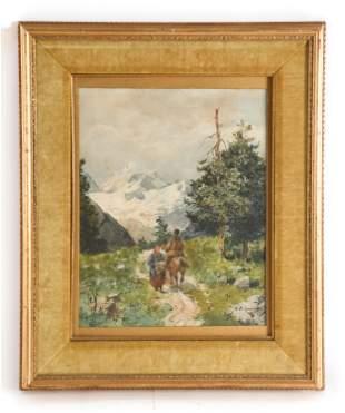 SEWERYN BIESZCZAD (POLAND 1852-1923) WATERCOLOR