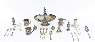 (25) GROUPING ANTIQUE & VINTAGE STERLING SILVER