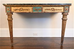 ITALIAN NEOCLASSICAL PAINTED & GILT CONSOLE