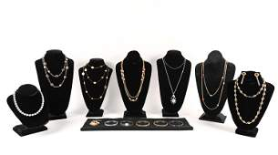 LARGE GROUPING VINTAGE COSTUME JEWELRY