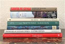 GROUPING OF INTERIOR DESIGN & GARDEN BOOKS