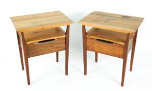 PAIR OF CITI JOINERY CRAFT SIDE OR NIGHT TABLES