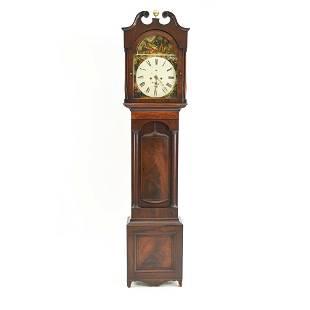 18TH C. BRITISH TALL CASE GRANDFATHER CLOCK