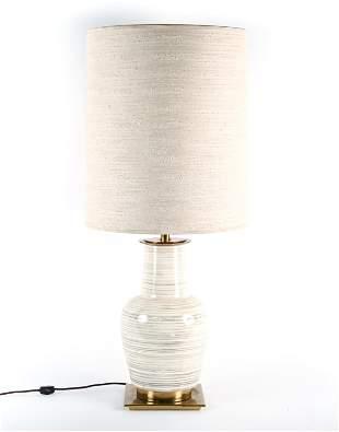 RARE MID-CENTURY STIFFEL GLAZED CERAMIC TABLE LAMP