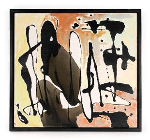 MID-CENTURY ABSTRACT O/C PAINTING