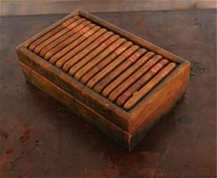 VINTAGE ITALIAN LEATHER CIGAR BOX