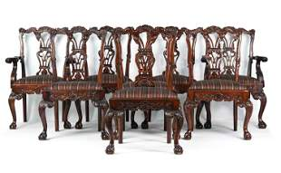 (8) CHIPPENDALE STYLE CHAIRS