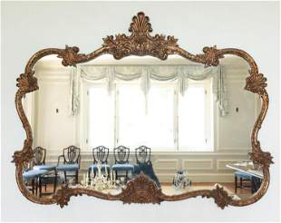 LARGE ORNATE ROCOCO STYLE WALL MIRROR