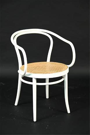 THONET-STYLE LACQUERED BENTWOOD ARMCHAIR