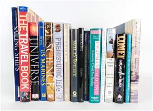 (16) COFFEE TABLE BOOKS INCL. SCIENCE, TRAVEL ETC.