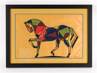 """1968 LT. ED. """"OLD PAINT"""" HORSE LITHOGRAPH, SIGNED"""