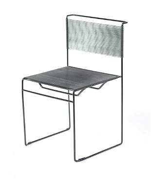 20TH C. METAL & CORD SIDE CHAIR