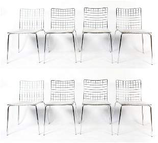 (8) CONTEMPORARY CHROME SIDE CHAIRS