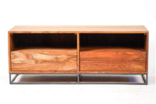 RUSTIC MODERN ENTERTAINMENT STAND OR COFFEE TABLE