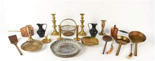 LARGE GROUPING OF VINTAGE HOLLOWARE INCL. COPPER &