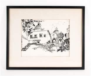JOSE FERNANDEZ JR, MEXICAN (20TH C) PEN & INK,