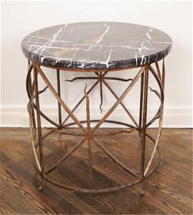 SWAIM MICHELANGELO MARBLE OCCASIONAL TABLE