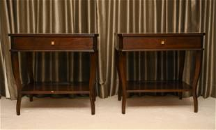 PAIR SUZANNE KASLER FOR HICKORY CHAIR NIGHT TABLES