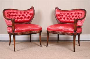 PAIR OF VINTAGE FRENCH STYLE BOUDOIR CHAIRS