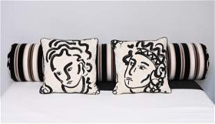 LEE JOFA & CLARENCE HOUSE BOLSTER & PILLOWS