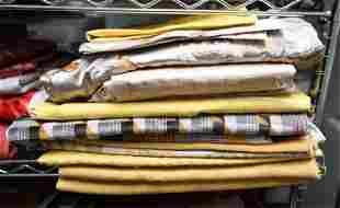 GROUPING OF YELLOW KNOLL LUXE FABRIC REMNANTS