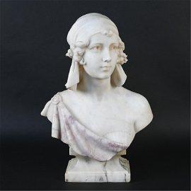 CIPRIANO CIPRIANI (19TH C.) ITALIAN MARBLE BUST